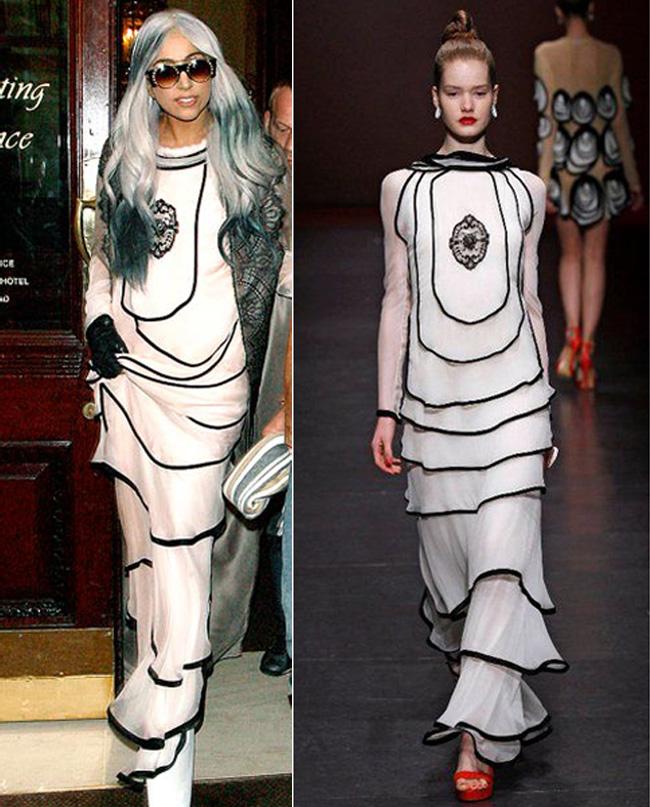 Lady Gaga in rochia Ingrid Vlasov Sursa Perfecte.ro