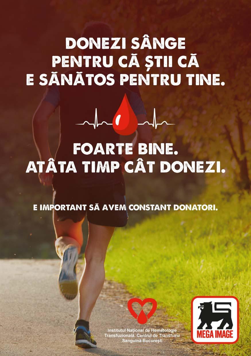 Mega Image sustine donarea de sange