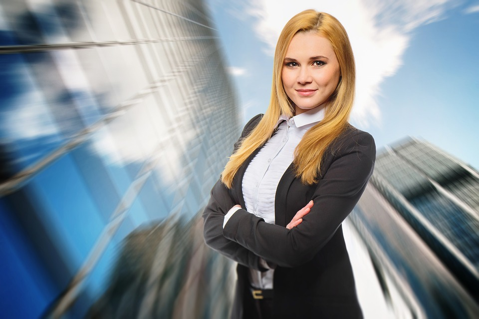 Dynamic Career Attractive Women Business Young