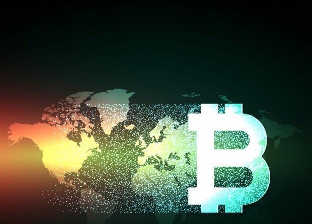 elegant-bitcoin-design-on-world-map_1017-9632