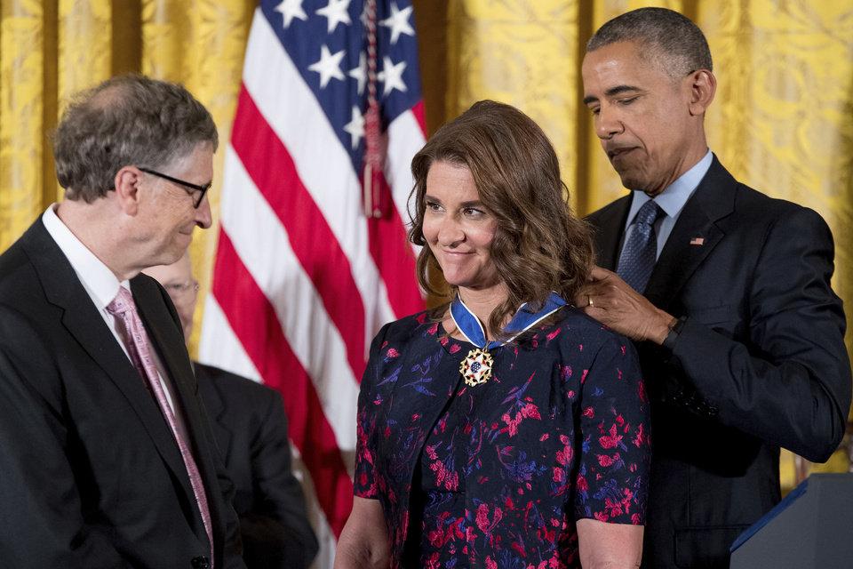 Barack Obama, Melinda Gates, Bill Gates