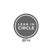 lean in circle - greyscale