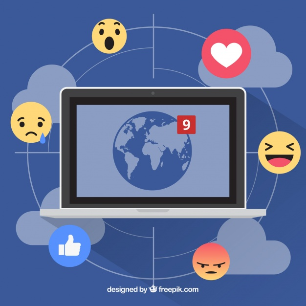 facebook-background-with-computer-and-emoticons_23-2147614169