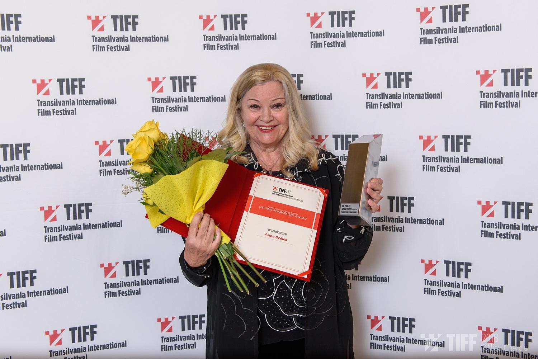 Anna Szeles - Premiul pentru intreaga cariera - Foto Nicu Cherciu TIFF 2018