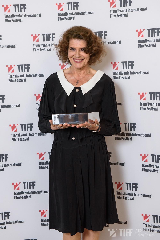 Fanny Ardant - Premiul pentru intreaga cariera - foto Nicu Cherciu Tiff 2018