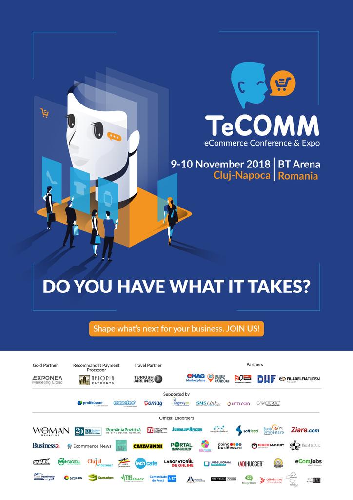 Afis TeCOMM 2018 Cluj