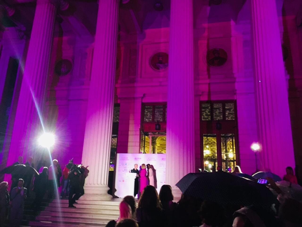 iluminare in roz Ateneu