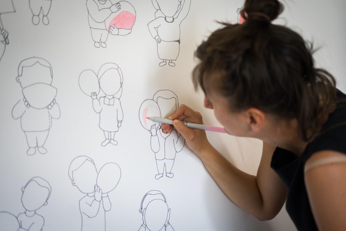 Desen interactiv ilustrat de Alina Bradu Pintea - TPA 2020 - foto Ioana Ofelia