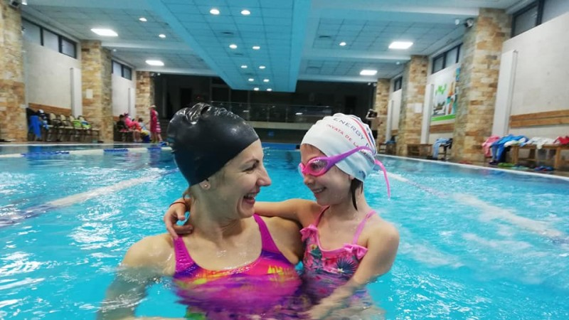 Flavia Bădiță, antrenoare aerobic și înot 3