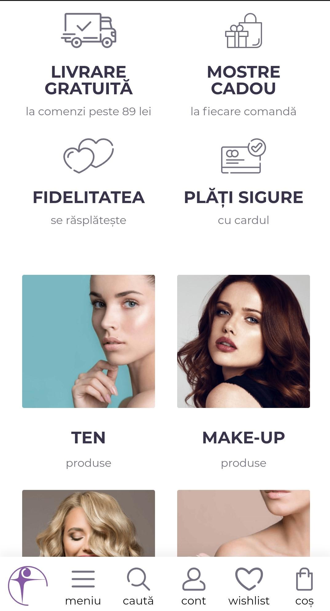 Website si Aplicatie Farmec 1